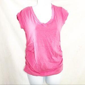 Oh Mamma Pink Maternity Tee Shirt Sz S